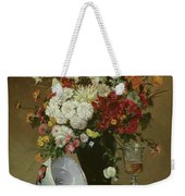 Still Life With Flowers And Pomegranates Weekender Tote Bag