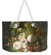 Still Life With Flowers In A Glass Vase Weekender Tote Bag