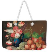 Still Life With Fruit And Flowers Weekender Tote Bag by William Buelow Gould