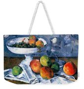 Still Life With Fruit Dish Weekender Tote Bag