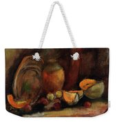 Still Life With Fruits And Pumpkin Weekender Tote Bag