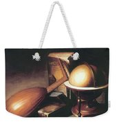 Still Life With Globe Lute And Books Weekender Tote Bag