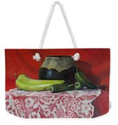 Still Life With Green Peppers Weekender Tote Bag