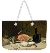 Still Life With Ham Weekender Tote Bag