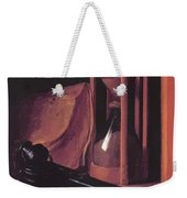 Still Life With Hourglass Pencase And Print Weekender Tote Bag