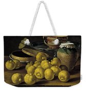 Still Life With Lemons And A Pot Of Honey Weekender Tote Bag