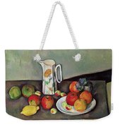 Still Life With Milkjug And Fruit Weekender Tote Bag by Paul Cezanne