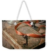 Still Life With Old Book And Metal Dishes Weekender Tote Bag