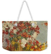Still Life With Pink Flowers Weekender Tote Bag