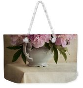 Still Life With Pink Peonies Weekender Tote Bag