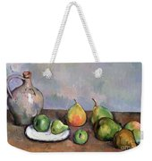Still Life With Pitcher And Fruit Weekender Tote Bag by Paul Cezanne
