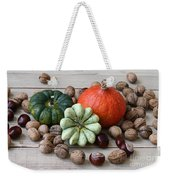 Still Life With Products Of Autumn Weekender Tote Bag