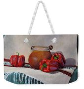 Still Life With Red Peppers Weekender Tote Bag