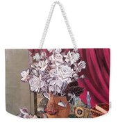 Still Life With Roses And Books Weekender Tote Bag