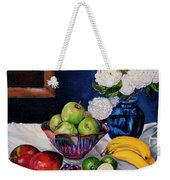 Still Life With Snowballs Weekender Tote Bag