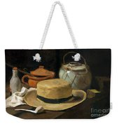 Still Life With Straw Hat, By Vincent Van Gogh, 1881, Kroller-mu Weekender Tote Bag