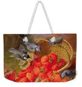 Still Life With Strawberries And Bluetits Weekender Tote Bag by Eloise Harriet Stannard