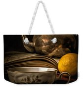 Still Life With Tea Cup Weekender Tote Bag