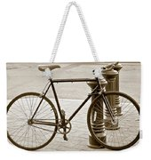 Still Life With Trek Bike In Sepia Weekender Tote Bag