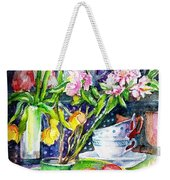 Still Life With Tulips And Apple Blossoms  Weekender Tote Bag