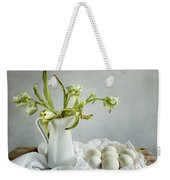Still Life With Tulips And Eggs Weekender Tote Bag