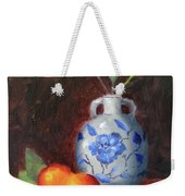 Still Life With Vase And Fruit Weekender Tote Bag