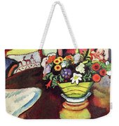 Still Life With Venison And Ostrich Pillow By August Macke Weekender Tote Bag