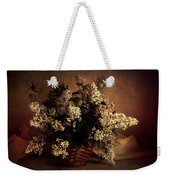 Still Life With White Flowers In The Basket Weekender Tote Bag