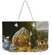 Still Life With Wine And Fruit Weekender Tote Bag