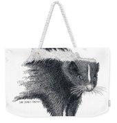 Stiped Skunk Weekender Tote Bag