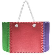 Stitched Leather Look Colorful Squares For Wall Decorations Weekender Tote Bag