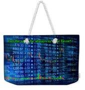 Stock Exchange Weekender Tote Bag by Anastasiya Malakhova