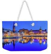 Stockholm Blue Hour Postcard Weekender Tote Bag