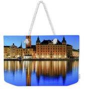 Stockholm Riddarholmen Blue Hour Reflection Weekender Tote Bag