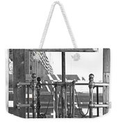 Stockyard Gate Black And White Weekender Tote Bag