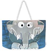 Stomp The Elephant Recycled License Plate Animal Art Weekender Tote Bag
