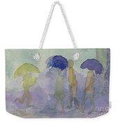 Stomping In The Rain Weekender Tote Bag