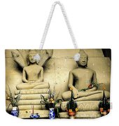 Stone And Flowers - Buddhist Shrine Weekender Tote Bag