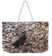 Stone And Leaves Weekender Tote Bag