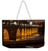 Stone Arch Bridge Night Shot Weekender Tote Bag