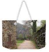 Stone Building Wall And Fence Weekender Tote Bag