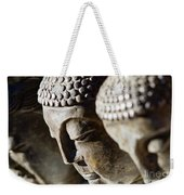 Stone Carved Buddha Faces Weekender Tote Bag