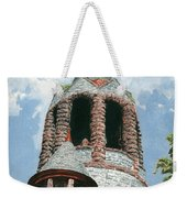 Stone Church Bell Tower Weekender Tote Bag