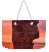 Stone Face Sunset Weekender Tote Bag