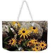 Stone Flowers Black Eyed Susan Weekender Tote Bag