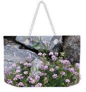 Stone Flowers Pink Weekender Tote Bag