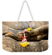 Stone Hand Of Buddha Weekender Tote Bag by Adrian Evans