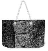 Stone Mason Scars Monochrome Weekender Tote Bag
