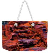 Stone Steps In Autumn Weekender Tote Bag