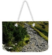 Stone Walkway Towards The Pointed Peak Weekender Tote Bag